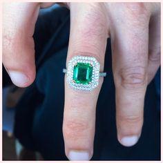 #Throwback to this stunner  A natural emerald & natural diamonds make a pretty combination #DiamondLoveAffair #handmade