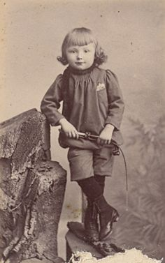 Young Boy with whip Fashion France Old CDV Photo 1885