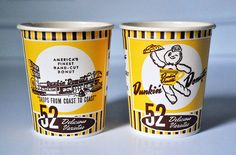 Vintage Dunkin' Donuts Coffee Cups by MJBarnes, via Flickr