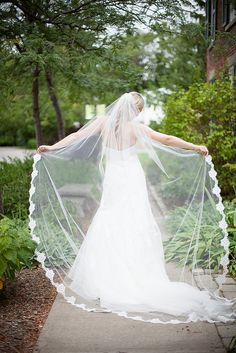How fabulous is this super dreamy shot of Lea-Ann Belter bride Stephanie, her Tess wedding gown and lace-edged veil? photography - Boston Avenue Photo Co Wedding Poses, Wedding Ceremony, Wedding Day, Wedding Dresses, 40th Anniversary, Bridal Portraits, Bridal Accessories, Wedding Bells, Veil