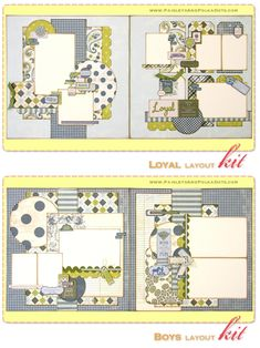 """This two, 2 page layout kit, from Paisleys & Polkadots, was created using the Genuine collection from Authentique. These layouts are perfect for those special moments between your """"Tried & True"""" friends. These layouts come pre cut, ready to assemble, and include full color instructions"""
