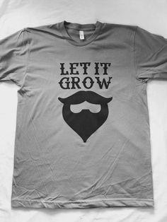 Let It Grow Beard T-Shirt by LittleBLove on Etsy