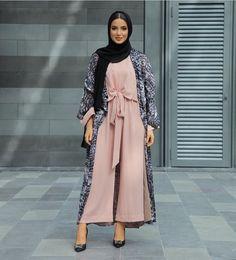 beautiful, fashion, and hijab image Casual Hijab Outfit, Hijab Chic, Hijab Dress, Modest Wear, Modest Dresses, Modest Outfits, Abaya Fashion, Modest Fashion, Fashion Outfits