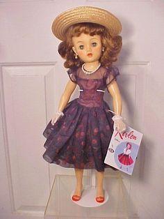 Miss Revlon Doll VT 20 wearing vintage Cherries à la mode dress Old Dolls, Antique Dolls, Vintage Dolls, Vintage Items, Revlon, Doll Toys, Baby Dolls, Children's Toys, Barbie