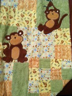Just hanging around monkeys baby quilt