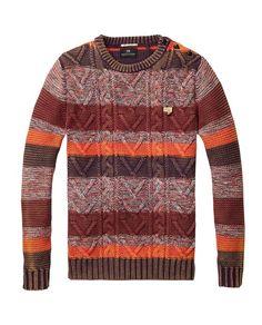 YUNY Mens Chunky Long Sleeve Knitted Pullover with Ribbing Edge Dark Grey XL