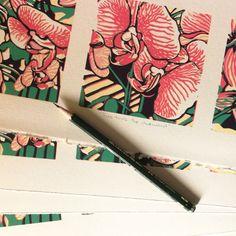 Editioning my reduction linocuts Sketches, Inspiration, Illustration, Linocut, Art, Prints