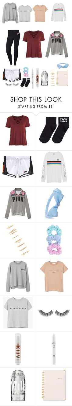 """Trending Now"" by ale-needam on Polyvore featuring Topshop, Ivy Park, Victoria's Secret, Forever 21, MANGO, MILK MAKEUP, NYX, Sugar Paper and NIKE"
