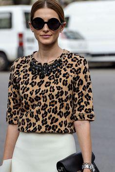 Moda en la calle street style leopard print fall winter 2013 what' Street Style 2014, Animal Print Fashion, Fashion Prints, Look Fashion, Autumn Fashion, Womens Fashion, Net Fashion, Fashion Beauty, Blusas Animal Print