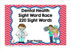 Dental Health Sight Word Race is a board game where your students read a word and then roll one die (dice) and move that many spaces on the board. Land on a tooth with a star and you brushed your teeth so you get to go again, but if you land on a tooth with food on it, you didn't brush your teeth so go back to start. There are 20 fun cards that will tell your students to go again, go ahead 2 or 3 spaces, go back 2 or 3 spaces, trade spaces, lose a turn, or go back to start. Feel free to…