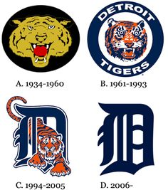 Detroit Tiger Logos.