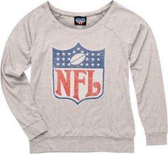 NFL Logo Women s Natural Tri-Blend Off the Shoulder Sweatshirt  i want  youuuuu! f234681c9