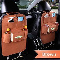 haosen pantalon-treillis multi-poches Organiseur de siège arrière pour voiture voyage sac de rangement organiseur pour dossier du siège auto