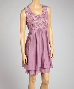 Lilac Lace Sleeveless Dress by Life and Style Fashions #zulily #zulilyfinds