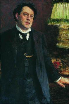Portrait of lawyer Oskar Osipovich Grusenberg, Ilya Repin