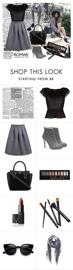 """""""Grey skirt <3"""" by ermina996 ❤ liked on Polyvore featuring Alexander McQueen, Forever 21, NARS Cosmetics, Chan Luu and thankyou"""
