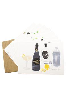 Cocktails Cards Set of 8