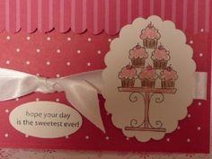 Cupcake Sweet Shop Birthday Card .
