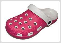 BTS 285661028 Damen Clogs mit EVA Sohle in Pink/ Weiß Gr.: 36-41 - Clogs für frauen (*Partner-Link)