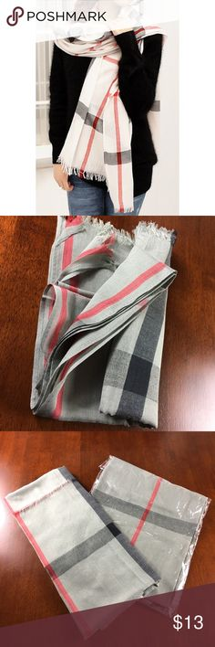 "🧣 NWT TALL TARTAN PLAID PASHMINA SCARF 🧣 🧣 NWT TALL TARTAN PLAID PASHMINA SCARF 🧣    I ONLY HAVE GRAY. 33"" W x 72"" L. Urban Outfitters Accessories Scarves & Wraps"