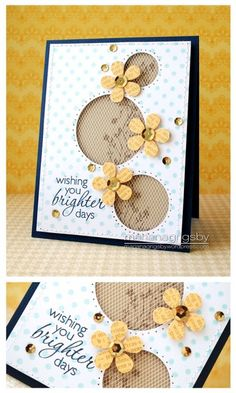 Card - Love the use of punches and tule.