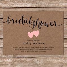 bridal shower invitations printable free - Google Search