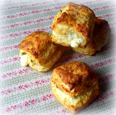 Flaky Goat Cheese and Chive Biscuits!!