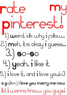 The last one is funny Just Me, Love You, Let It Be, My Love, Chat Board, Thing 1, Totally Me, Lol, I Want To Know