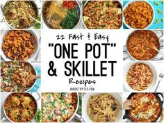 22 Fast and Easy One Pot Meals - Budget Bytes - - 22 Fast and Easy One Pot Skillet Meals to make dinner enjoyable again. Use one pot to cook and one bowl to eat. Dinner made easy. Healthy One Pot Meals, Easy One Pot Meals, Quick Meals, Healthy Recipes, Delicious Recipes, Easy One Person Meals, Frugal Meals, Budget Meals, Weeknight Meals