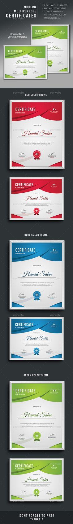Certificate Template | Certificate Templates, Certificate Design