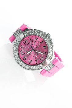 Pinkki kello timanteilla / Korut ja asusteet / Be Beautiful