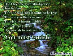 YOU must vanish