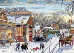 Village Crossing - par Trevor Mitchell Canada | CanadaPuzzles.ca