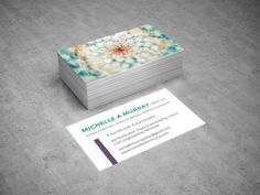 Business Card Design for Licensed Mental Health Counselor / Therapist | Designed by Business Betties, Graphic Designer Allison Biggs #branding #printdesign #businesscards #graphicdesign