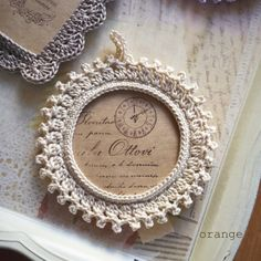 crochet photoframe