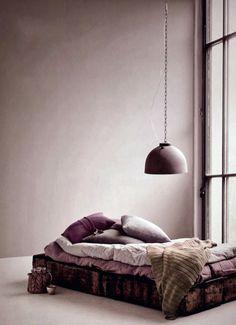 99 Romantic Bedroom Interior Design for Your Inspiration - Home Bedroom, Bedroom Decor, Bedrooms, Mauve Bedroom, Mauve Bedding, Bedroom Wall, Interior Architecture, Interior And Exterior, Purple Interior