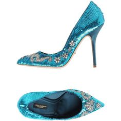 Dolce & Gabbana Court (15.515 ARS) ❤ liked on Polyvore featuring shoes, pumps, turquoise, sequin pumps, rhinestone pumps, dolce gabbana pumps, spiked heel pumps and dolce gabbana shoes