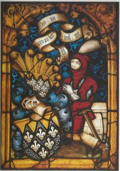 Stifterscheibe. Philip von Dahlberg: Karlsruhe, badisches Landesmuseum. Ehemals Herrnsheim Dahlbergkapelle. Vermutlich in Speyer um 1485 entstanden.