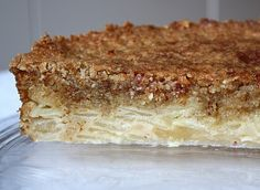 my French cinnamon apple cake - layers of fresh, delicious apples, topped with a crispy, caramelized almond topping  (my German mother-in-law's favorite!)