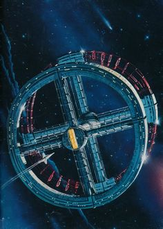Beautiful Peter Elson artwork for the 1976 Arrow Books reprint of 2001 A Space Odyssey