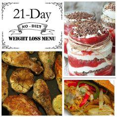 21 Day (No-Diet) Weight Loss Menu