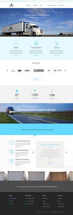 Trucking-Transportation & Logistics HTML Template   INTERNATIONAL ...