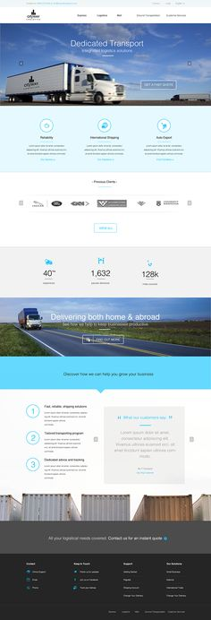 Transport/Logistic company website design by Kapil Sharma, via Behance