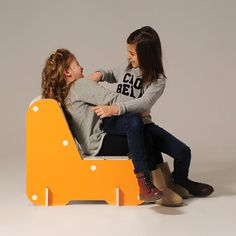 #Alice is a corrugated cardboard armchair for kids, with simple and linear shapes, inspired by the classic design of the living room armchair.  Let your kid express his creativity decoring and coloring Alice as he wishes.  #armchair #designforkids #kidsbedrooms   http://eco-and-you.com/shop/alice/