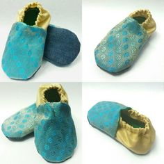 Blue and Gold, juti-booties from #Skips