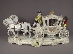 unterweissbach porcelain | Lg-Antique-German-Unterweissbach-Porcelain-Carriage-Dresden-Lace-Group ...