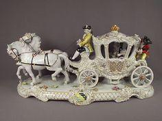 unterweissbach porcelain | Lg-Antique-German-Unterweissbach-Porcelain-Carriage-Dresden-Lace-Group ...