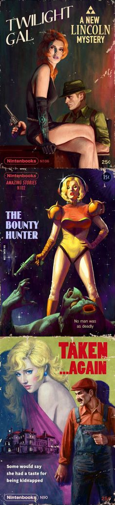 Nintendo Pulp Novel Covers
