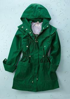 Steve Madden Green Rain Jacket I so want this!!