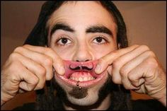 Dedicated Hipster Stache #lolsx #tato I follow a couple gum diseases, but youve probably never heard of them